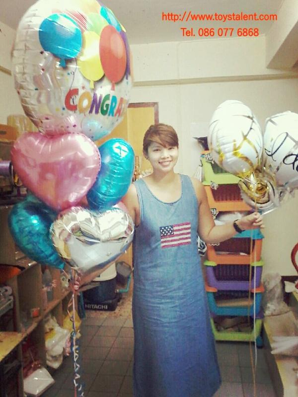 "Set#18 ช่อลูกโป่ง Bold Congratulations Balloons (แบรนด์Anagram)+ฟอลย์ 18""= 6 ใบ"