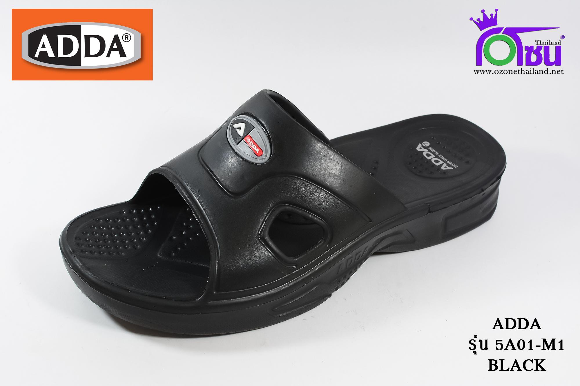 รองเท้าแตะไฟล่อน ADDA แอดด๊า รหัส 5A01 สีดำ เบอร์ 7-9