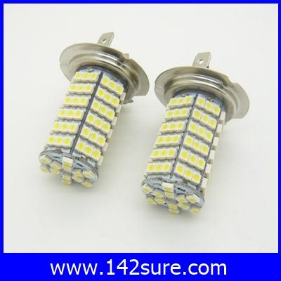 LFC030 หลอดไฟตัดหมอก สปอร์ตไลท์ 1คู่ H7 120LED 3528 SMD Super White Fog Lamp Light DC 12V