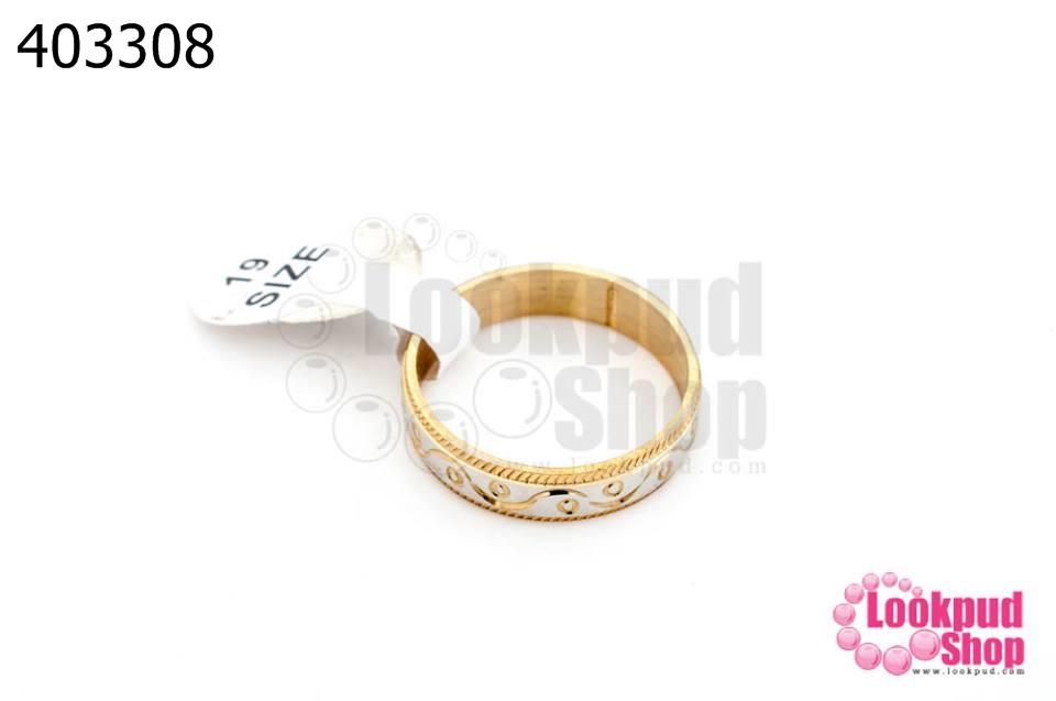 แหวนทองเหลือง คละไซส์ เบอร์ 17-20 (1กล่อง/100วง)