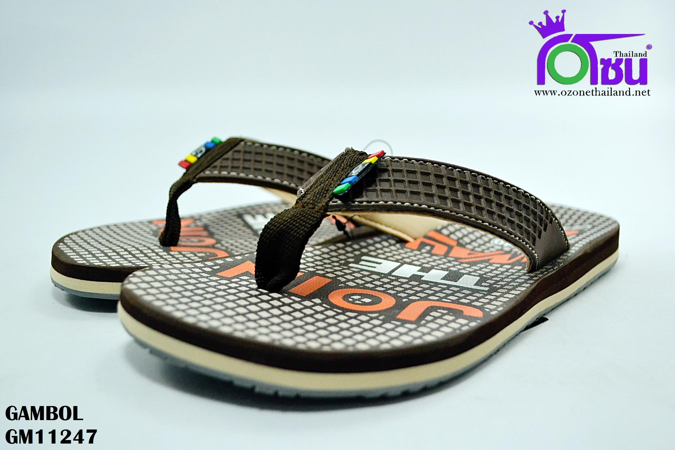 รองเท้าแตะ แกมโบล GAMBOL รุ่น GM11247 สี น้ำตาล เบอร์ 40-44