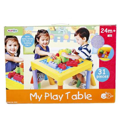 โต๊ะเก้าอี้พร้อมตัวต่อบล็อค Playgo 2245