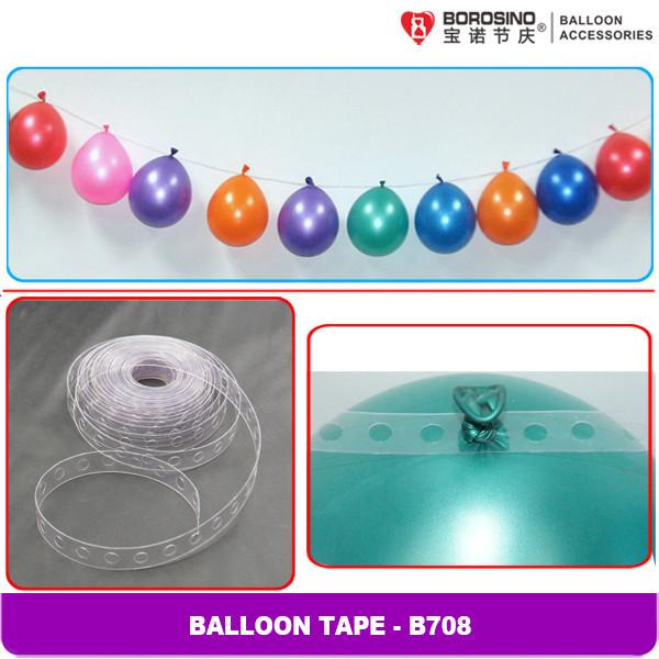 เทปพลาสติกร้อยพวงลูกโป่ง ยาว 5 ม. Balloons Strip Tape- 5 m / Item No.B708
