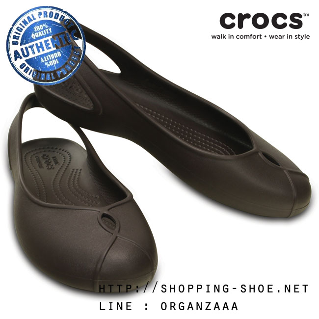W7 (24 cm.) : Crocs Olivia II Flat - Espresso ของแท้ Outlet ไทยและอเมริกา