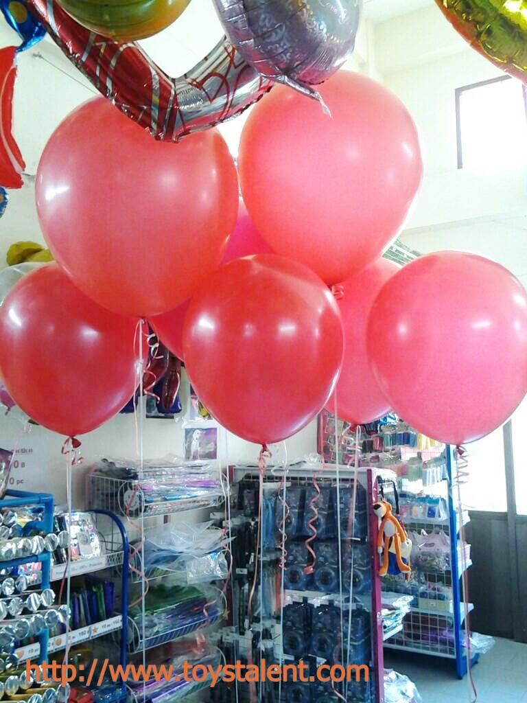 """ลูกโป่งกลม สีแดง ไซส์ 18 นิ้ว จำนวน 1 ใบ (Round Balloon - Standard Red Color 18"""")"""