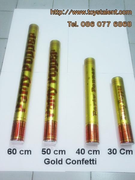 พลุกระดาษ Gold Confetti shooter ขนาด 50 cm / TL-P005