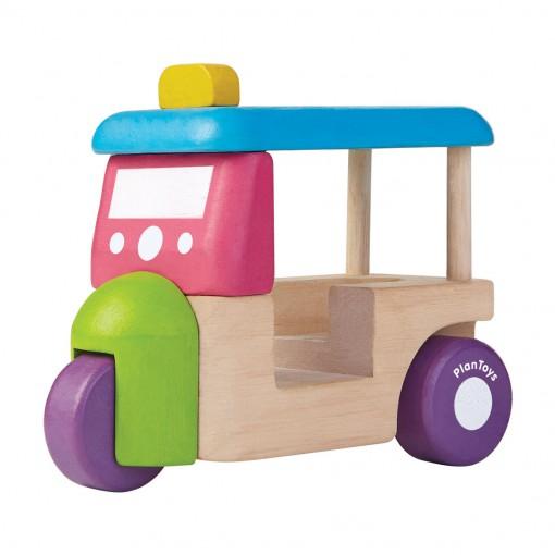 ของเล่นไม้ ของเล่นเด็ก ของเล่นเสริมพัฒนาการ Tuk Tuk รถตุ๊กตุ๊กมินิ (ส่งฟรี)