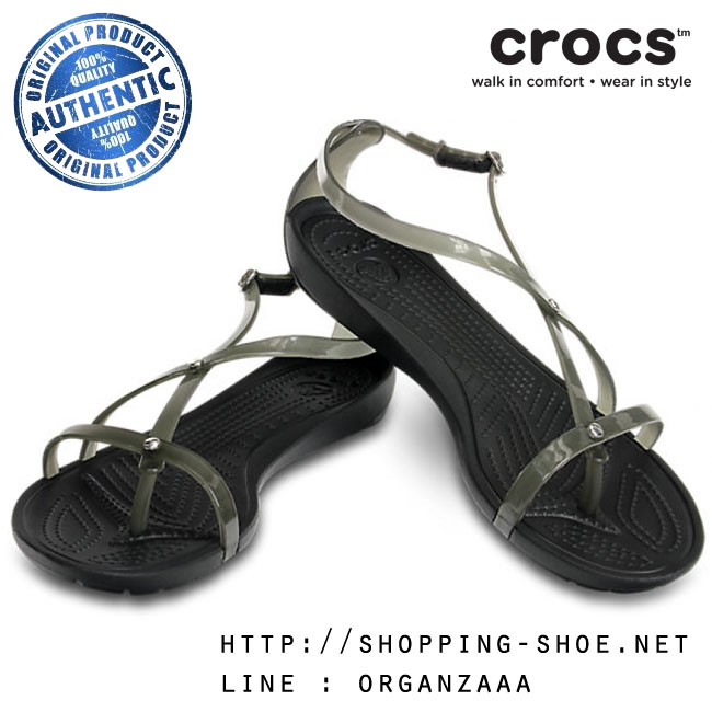 W7 (24.5 cm.) : Crocs Really Sexi Sandal - Black ของแท้ Outlet ไทยและอเมริกา