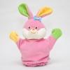 ของเล่นเสริมพัฒนาการ Hand puppet หุ่นตุ๊กตาสวมมือ หน้ากระต่าย สีชมพู สำหรับให้คุณพ่อ คุณแม่ สวมมือ เล่นกับลูก (ส่งฟรี)