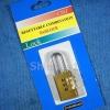 กุญแจล็อกด้วยเลขรหัส 3 แถว ทำจากทองเหลือง ขนาดเล็ก