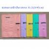 ซองพลาสติกสีพาสเทล XL (32X45cm)