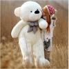 ตุ๊กตาหมียิ้ม สีขาว ขนาด 1.8 เมตร