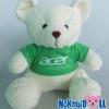 ตุ๊กตาพรีเมี่ยม acer ตุ๊กตาหมีนั่ง11นิ้ว ใส่เสื้อ+สกรีนโลโก้ 2ด้าน D5401Q0800