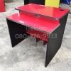 """โต๊ะคอมพิวเตอร์ต่างระดับตัวล่ะ 1180 บาท T-114 แดง/ขาดำ """"เมลามีน"""""""