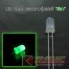 """LED 5mm หลอดขาวขุ่น แสงสี """"เขียว"""" (100 Pcs)"""
