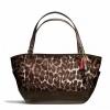 กระเป๋า COACH PARK OCELOT PRINT CARRIE TOTE F23278