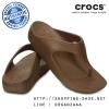 W7 (24.5 cm.) : Crocs Sloane Platform Flip - Bronze ของแท้ Outlet ไทยและอเมริกา