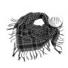 ผ้าพันคอชีมัค Shemagh สีเทาดำ