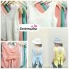 เสื้อแฟชั่น ผ้าฮานาโกะ สีขาว แขนกุด ผูกโบว์ด้านหลัง แบบสวยน่ารัก สินค้าคุณภาพ ราคาไม่แพง