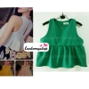 เสื้อแฟชั่น เสื้อทำงาน ผ้าฮานาโกะ สีเขียวไมโล แบบสวยน่ารัก เนื้อผ้านิ่ม อยู่ทรง ไม่ยับง่าย ใส่สบาย สินค้าคุณภาพ ราคาไม่แพง