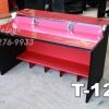 """T-121 โต๊ะคอมต่างระดับ """"เมลามีน"""" 120 ซม. (สีแดง-ขาดำเคฟล่า)"""