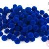 ปอมปอมไหมพรม สีน้ำเงิน 2 ซ.ม (100ลูก)