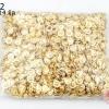 ตะขอสร้อยแบบกระดุม 9x14 มิล สีทอง (1,000 ชิ้น)