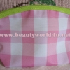 กระเป๋าเครื่องสำอาง Clinique สีชมพูลายตาราง