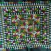 ผ้าปักคลุมหัวเจ้าสาว ลายโบราณ+ลายประยุกต์ ผืนสี่เหลี่ยมสีโทนเหลือง+แดง