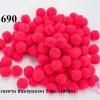 ปอมปอมไหมพรม สีชมพูอมแดง 1 ซม. (100ลูก)