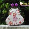 กระเป๋าปิ้กแป้กขนาด 7 cm สูง 5 นิ้ว ผ้าญี่ปุ่น ควิลล์มือ สำหรับใส่เหรียญ ของจุกจิก (สินค้าฝากขาย ไม่บวกเพิ่ม ) สำเนา