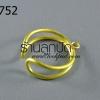 โครงแหวน ลวดทองเหลือง โครงเปล่า (1วง)