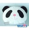 หมอนอิงตุ๊กตา หัวหมี แพนด้า ผ้าขนหนู เล็ก-กว้าง16นิ้ว