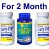 ((เซ็ตคู่ผิวขาว ยอดนิยม สำหรับ 2 เดือน)) Ivory Caps 1500 mg 2 ขวด + Puritan ALA 300 mg Softgel 60 เม็ด ผิวขาวกระจ่างใส ลดความหมองคล้ำ ต้านริ้วรอย คุณภาพ อย.USA