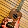 """อูคูเลเล่ Ukulele Kaniola Hawaii Bass Wood สาย Aquila Soprano 21"""" ฟรีกระเป๋า"""