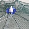 อวนตาข่ายดักปลากุ้งแบบพกพาพับปูอวนปลาเหยื่อ 8 รู