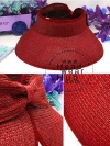 หมวกปีกกว้าง หมวกแฟชั่น กันแดด - Red