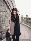 พร้อมส่งค่ะ เสื้อผ้าฮานาโกะ แบบสวยคลาสสิค เสื้อทำงาน ตัวยาว คอวี แขนกุด สีทูโทน แบบสวยหรูๆ
