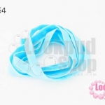 เชือกผ้า ริบบิ้นกำมะยี่ สีฟ้าอมเขียว (1เส้น/1หลา)