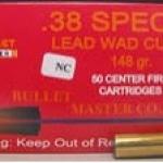 ลูกกระสุน .38 spl LWC Bullet