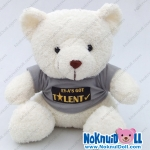 ตุ๊กตาพรีเมี่ยม EYA ตุ๊กตาหมีนั่ง11นิ้ว ใส่เสื้อ+รีดโลโก้ 1ด้าน D5506Q0070