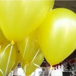 """ลูกโป่งกลมเนื้อสแตนดาร์ท สีเหลือง ไซส์ 12 นิ้ว แพ็คละ 10 ใบ (Round Balloons - Yellow Color 12"""")"""