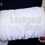 เชือกผ้า ริบบิ้นกำมะยี่ สีขาว (1ม้วน/50หลา)