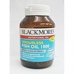 Blackmores Odourless Fish Oil 1000MG 60 Capsules แบลคมอร์ส โอเดอร์เลส ฟิช ออยล์ 60 แคปซูล