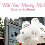 """ลูกโป่งกลมพิมพ์ลาย Will You Marry Me? สีขาว ไซส์ 12 นิ้ว แพ็คละ 10 ใบ (RฺB12"""" - Will You Marry Me? Printing White latex balloons)"""