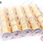 เอ็นยืด สีเหลืองทอง ม้วนใหญ่ (25ม้วน)
