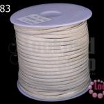 หนังชามัวร์(หนังแบน) สีขาวครีม No.2 (1ม้วน/100หลา)