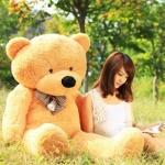 ตุ๊กตาหมียิ้ม สีน้ำตาลอ่อน ขนาด 1.6 เมตร