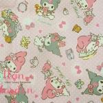 คอตตอนลินิน ญี่ปุ่น ลาย My Melody สีชมพูน่ารัก จาก KOKKA เหมาะสำหรับงานผ้าทุกชนิด ตัด กระโปรง ทำกระเป๋า ปลอกหมอน และอื่นๆ