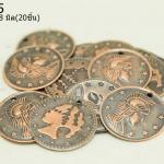 เหรียญจีน สีทองแดง บาง 18มิล(20ชิ้น)